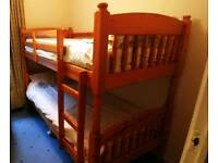 Pine bunk beds. Perfect condition. No longer needed
