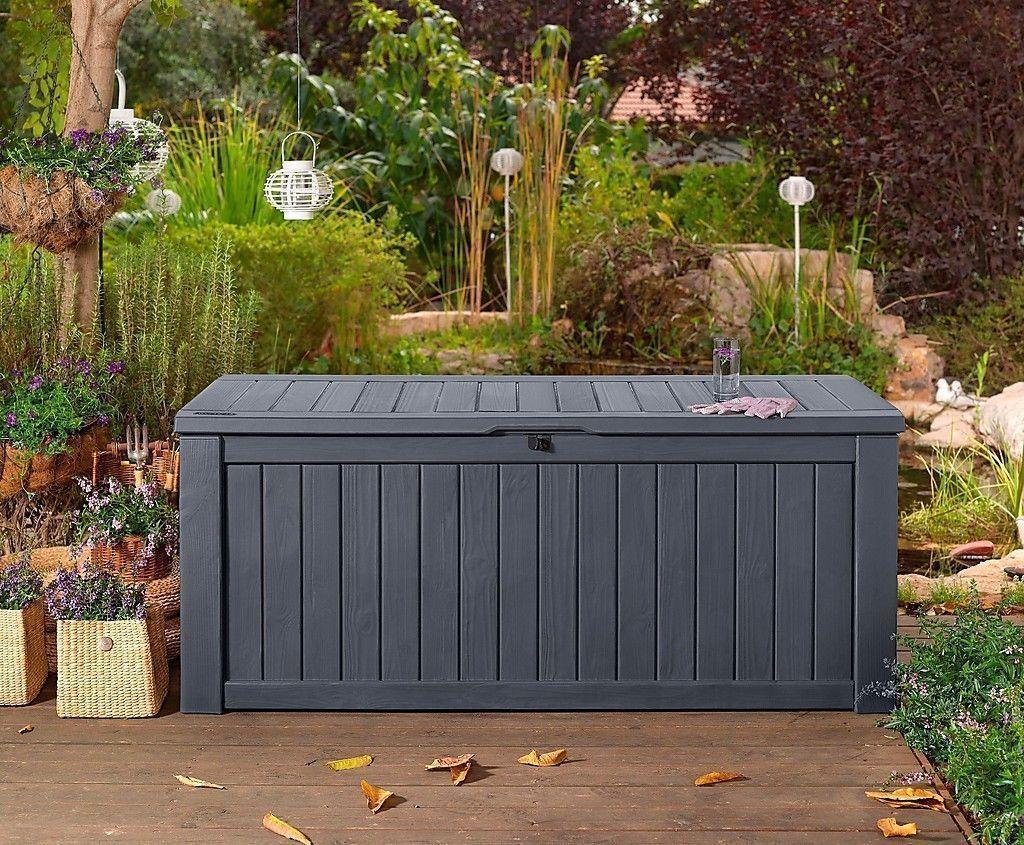gartentruhe rockwood keter kissentruhe auflagen truhe kissenbox gartenm bel box eur 159 90. Black Bedroom Furniture Sets. Home Design Ideas