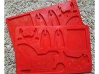 Lakeland sleigh and reindeer chocolate mould