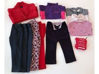 Girl's clothing Age 2-3 years (autumn/winter) - 33 pieces, fantastic condition, JoJo maman, Gap etc