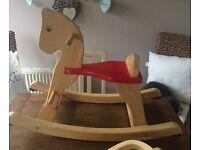 John Lewis wooden rocking horse