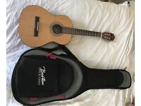 3/4 size acoustic guitar and case