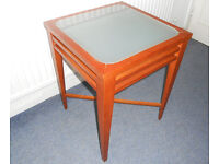 Glass Topped Side Table, Lamp Table, Plant Stand