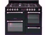 cookmaster 110 cm dual fuel range cooker , black colour , 7 burners , for sale ...