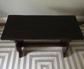 Coffee, side or TV table - Dark wood