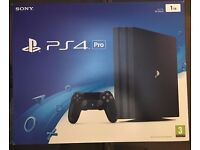 SONY PLAYSTATION 4 PS4 PRO 4K 1TB BLACK CONSOLE - Brand New