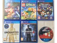 SONY PLAYSTATION 4 PS4 GAMES LEGO WORLDS STAR WARS SOUTH PARK UNCHARTED COLLECTION DRIVECLUB GAMES