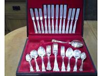 Vintage silver cutlery set