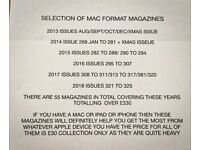 LARGE SELECTION OF MAC FORMAT MAGAZINES