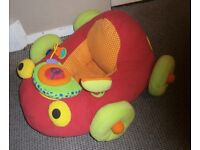 Comfy Car Red soft place for baby to sit and play