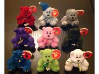 Chubbley Assorted Pattern 9 Bear Pack (9cm)