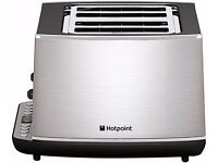 New Hotpoint TT44EAX0UK 4 Slice Toaster Stainless Steel 1800W Was: £ 69.99