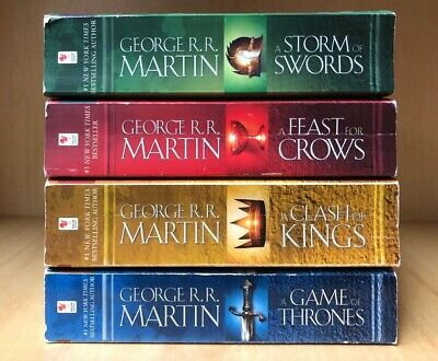 GAME OF THRONES BOOKS 1 to 4 - GEORGE RR MARTIN - VERY GOOD - FREE SHIPPING