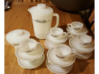 10 Cup Ceramic Expresso Set including Jug & Sugar Bowl