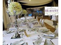 LONDON HIRE Backdrop Chiavari Chairs Chair Covers Tablecloths Plates Cutlery Charger Plates Wedding
