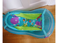 Fisher Price baby bath with hammock and bathtub seat