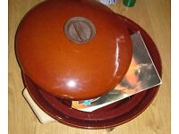Tower slow cooker with instruction recipe book