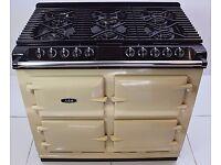 AGA S SERIES SIX FOUR DUAL FUEL RANGE COOKER CREAM RRP £6495
