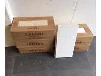 White ceramic tiles, 5 boxes, approx 5 sq m, 20 x 40 cm very good quality, bathroom kitchen shower