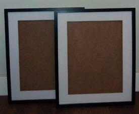 Black Wooden Picture Frames x2