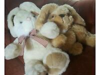 Toy cuddly bunnies