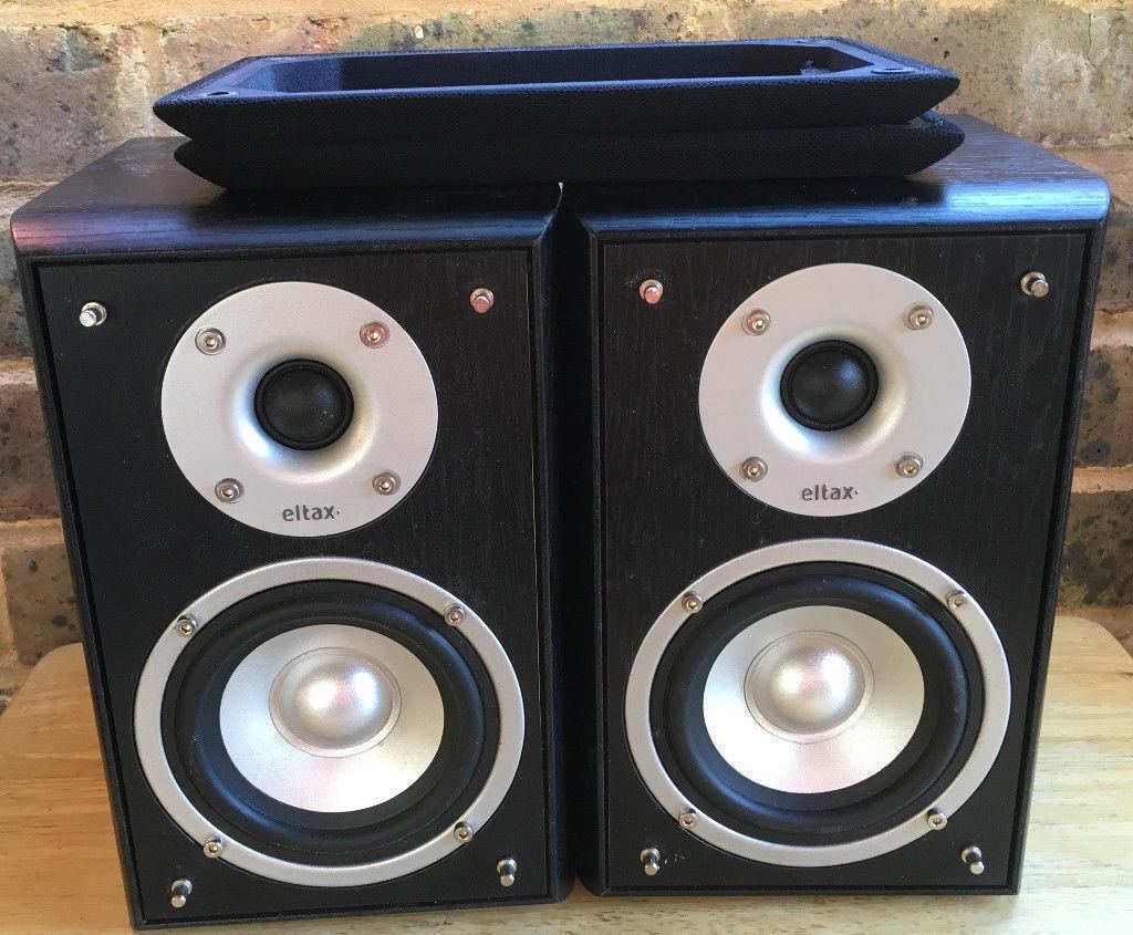 50W Eltax Concept Mini 2 Way Bass Reflex Bookshelf Speakers GREAT SOUNDS