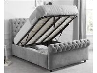 Double Chesterfield ottoman bed