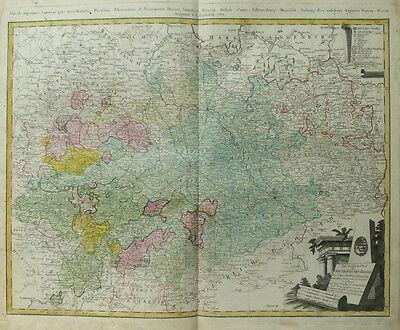 SACHSEN ANHALT BRANDENBURG BAYERN THÜRINGEN OBERSÄCHSISCHER KREIS HOMANN 1783