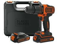 Brand New Black & Decker 18v Combi Hammer Drill Driver Screwdriver + 2 Batteries