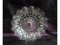 Vintage Glass Serving Plate Cake Plate VGC
