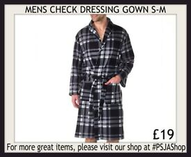 MENS CHECK DRESSING GOWN S-M