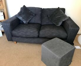 2 X Two Seater Sofa + Foot Stool