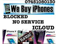 Wanted iPhone 8 Plus 8 X 7 Plus 7 6s Plus 6s Se Faulty New Used iCloud Broken Screen Pin Lock