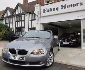 2009 BMW 320i CONVERTIBLE,AUTO,PETROL,LOW MILES,LEATHER,HEATED SEATS,PARK SENSORS,FULL HISTORY,AC,CD