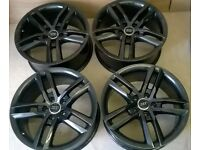 GENUINE AUDI ALLOY WHEELS 5X112 REFUEBISHED METALIC BLACK MINT NOT FITTED SINCE DONE
