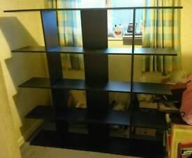 Black Wooden Display Shelving/ Book Shelves