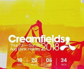 2 x Creamfield GOLD tickets