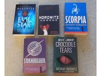 5 ANTHONY HOROWITZ PAPERBACK BOOKS - USED BUT IN GOOD CONDITION