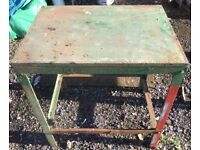 2x Heavy duty Engineering metal cast iron work Bench tables