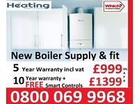 special offer brand new a rated boiler 5 or 10 year warranty