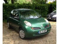 Nissan Micra 1.2 16v S 3dr .12 Months MOT.Full service history.Beautiful condition throughout