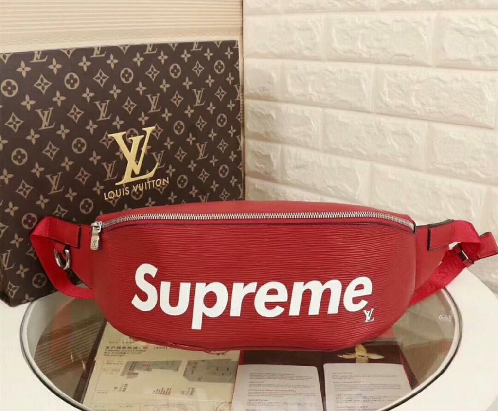 9a01bcfcb047 Louis Vuitton X Supreme Bum Bag Epi Red
