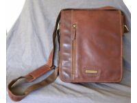 Soft Leather Shoulder Bag male/female by Unicorn - unused gift - very smart, plenty of starage