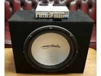 CAR ACTIVE SUBWOOFER MAC AUDIO 1000 WATT 12 INCH BASS BOX WITH BUILD IN AMPLIFIER SUB WOOFER AMP