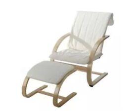 Kiddicare nursing nursery chair and stool in good condition
