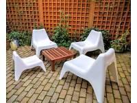 Garden furniture set, 3 chairs+table + 1 kid chair