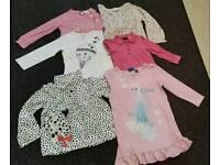 Girls long sleeves tops bundle age 2-5 years