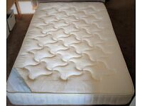 Double Bed - complete with base, mattress and headboard - very good condition
