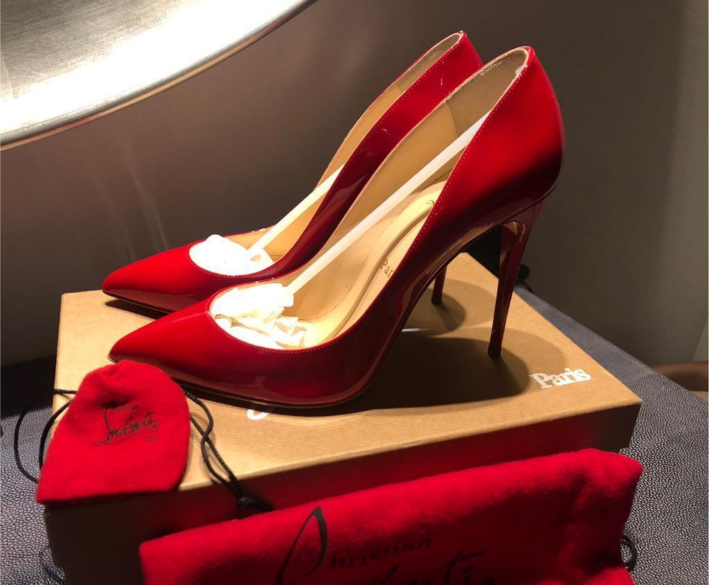 9ab06a61a55 Louboutin Pigalle Follies 100 Patent Red
