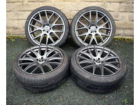 "22"" Range Rover Sport alloy wheels tyres 5x120 Discovery 3 4 BMW X5 E70"